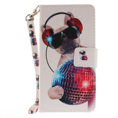 Cover Case for Huawei P8 Lite Fashion Dog PU+TPU Leather with Stand and Card Slots Magnetic Closure huawei p8 lite