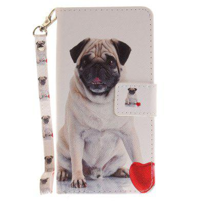 Cover Case for Huawei P8 Lite Pug PU+TPU Leather with Stand and Card Slots Magnetic Closure luxury pu leather case cover for huawei mediapad m3 lite 8 0 cpn w09 cpn al00 8 tablet flip wallet stand cover with card slots