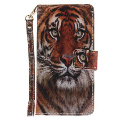 Cover Case for Huawei P8 Lite Manchurian Tiger PU+TPU Leather with Stand and Card Slots Magnetic Closure huawei p8 lite