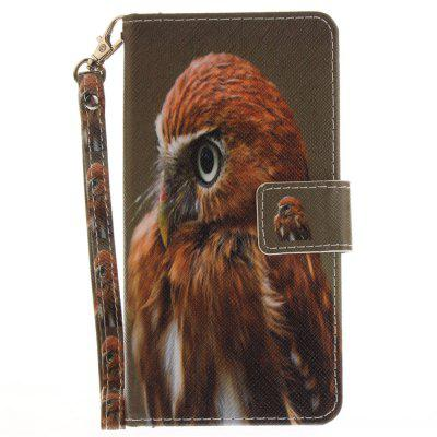 Cover Case for Huawei P9 Lite Young Eagles PU+TPU Leather with Stand and Card Slots Magnetic Closure cover case for huawei p10 lite half a face of a cat pu tpu leather with stand and card slots magnetic closure