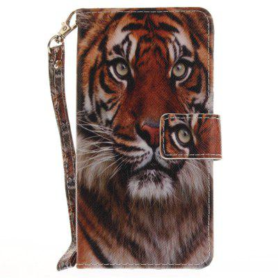 Cover Case for Huawei P9 Lite Manchurian Tiger PU+TPU Leather with Stand and Card Slots Magnetic Closure cover case for huawei p10 lite half a face of a cat pu tpu leather with stand and card slots magnetic closure