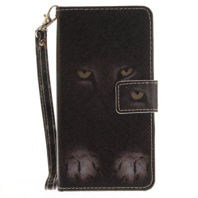 Cover Case for Huawei P9 Lite Mystery Cat PU+TPU Leather with Stand and Card Slots Magnetic Closure cover case for huawei p10 lite half a face of a cat pu tpu leather with stand and card slots magnetic closure