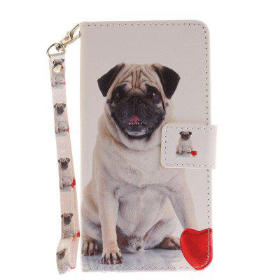 Cover Case for Huawei Honor 8 Pug PU+TPU Leather with Stand and Card Slots Magnetic Closure сотовый телефон huawei honor 8 pro black