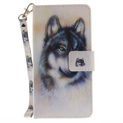 Cover Case for Huawei Honor 8 Wolf PU+TPU Leather with Stand and Card Slots Magnetic Closure cover case for huawei p10 lite half a face of a cat pu tpu leather with stand and card slots magnetic closure