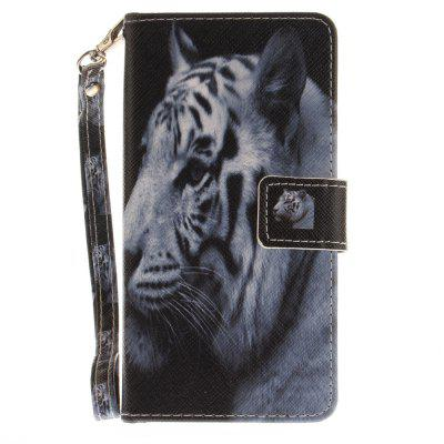 Cover Case for Huawei Honor 8 The White Tiger PU+TPU Leather with Stand and Card Slots Magnetic Closure cover case for huawei p10 lite half a face of a cat pu tpu leather with stand and card slots magnetic closure