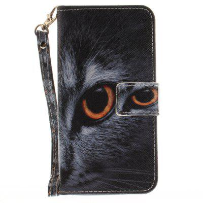 Cover Case for ASUS Zenfone 3 Max ZC520TL Half face of cat PU+TPU Leather with Stand and Card Slots Magnetic Closure cover case for huawei p10 lite half a face of a cat pu tpu leather with stand and card slots magnetic closure