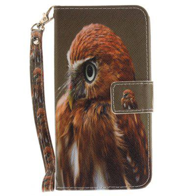 Cover Case for ASUS Zenfone 3 ZE520KL Young Eagles PU+TPU Leather with Stand and Card Slots Magnetic Closure cover case for huawei p10 lite half a face of a cat pu tpu leather with stand and card slots magnetic closure