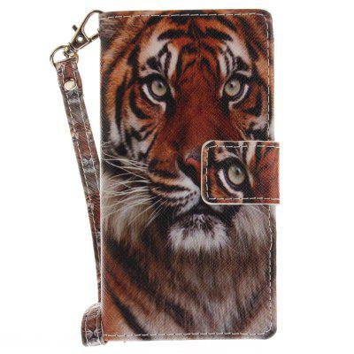 Cover Case for Sony X Compact X Mini Manchurian Tiger PU+TPU Leather with Stand and Card Slots Magnetic Closure lc imeeke card slots leather coated tpu mirror kickstand shell cover for iphone 7 plus rose