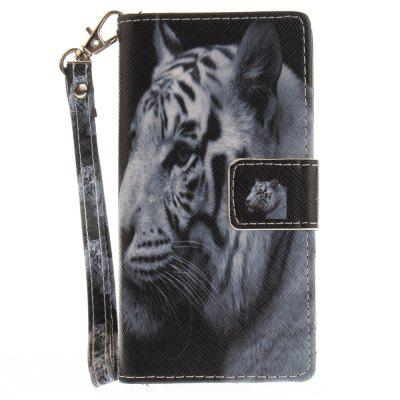 Cover Case for Sony X Compact X Mini The White Tiger PU+TPU Leather with Stand and Card Slots Magnetic Closure cover case for huawei p10 lite half a face of a cat pu tpu leather with stand and card slots magnetic closure