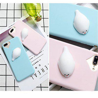 Case for iPhone 8 Plus Anti-Stress Funny Squishy 3D Silicone Squishy TPUiPhone Cases/Covers<br>Case for iPhone 8 Plus Anti-Stress Funny Squishy 3D Silicone Squishy TPU<br><br>Features: Back Cover<br>Material: Polycarbonate, TPU<br>Package Contents: 1 x Phone Case<br>Package size (L x W x H): 15.00 x 7.00 x 4.00 cm / 5.91 x 2.76 x 1.57 inches<br>Package weight: 0.0330 kg<br>Product size (L x W x H): 14.00 x 6.70 x 3.00 cm / 5.51 x 2.64 x 1.18 inches<br>Product weight: 0.0320 kg<br>Style: Cartoon