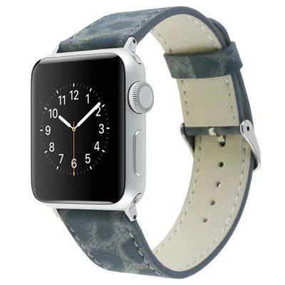 For 38mm iWatch Series 3/2/1 Genuine Leather Strap Unique Leopard Grain Design coteetci w6 luxury stainless steel magnetic watchband for apple watch series 1 series 2 38mm gold