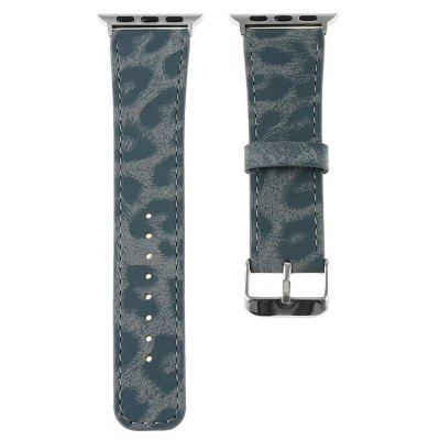 For 42mm iWatch Series 3/2/1 Genuine Leather Strap Unique Leopard Grain Design 1 1 scale butterfly clasp stainless steel watchband bracelet for apple watch 42mm series 2 series 1 silver