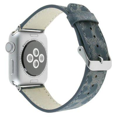 Buy For 42mm iWatch Series 3/2/1 Genuine Leather Strap Unique Leopard Grain Design, GRAY, Mobile Phones, Apple Accessories, Apple Watch Accessories, Apple Watch Bands for $11.60 in GearBest store