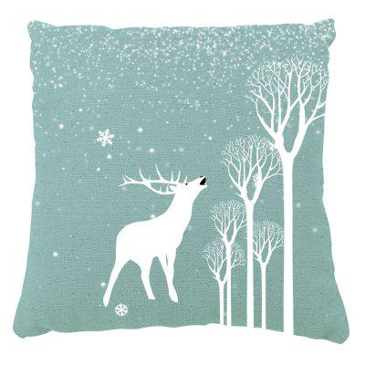 Christmas Home Decor Winter Elk and Snow Print Pillow Cases