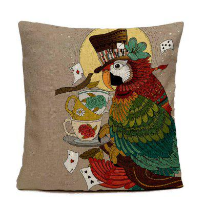 Hand-painted Parrot Home Decoration Pillow Covers