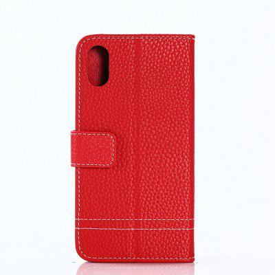 Cover Case for iPhone X Lychee Striped Back Button LeatheriPhone Cases/Covers<br>Cover Case for iPhone X Lychee Striped Back Button Leather<br><br>Compatible for Apple: iPhone X<br>Features: Cases with Stand, With Credit Card Holder, Anti-knock, Dirt-resistant, FullBody Cases<br>Material: TPU, PU Leather<br>Package Contents: 1 x Phone Case<br>Package size (L x W x H): 20.00 x 10.00 x 2.00 cm / 7.87 x 3.94 x 0.79 inches<br>Package weight: 0.0520 kg<br>Product weight: 0.0470 kg<br>Style: Vintage, Leather, Solid Color