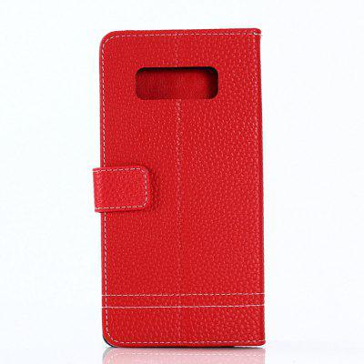 Cover Case for Samsung Galaxy Note 8 Lychee Striped Back Button LeatherCover Case for Samsung Galaxy Note 8 Lychee Striped Back Button Leather<br><br>Compatible for Samsung: Samsung Galaxy Note 8<br>Features: Full Body Cases, Cases with Stand, With Credit Card Holder, Anti-knock, Dirt-resistant<br>Material: TPU, PU Leather<br>Package Contents: 1 x Phone Case<br>Package size (L x W x H): 20.00 x 10.00 x 2.00 cm / 7.87 x 3.94 x 0.79 inches<br>Package weight: 0.0520 kg<br>Product weight: 0.0480 kg<br>Style: Vintage, Solid Color