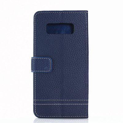 Cover Case for Samsung Galaxy Note 8 Lychee Striped Back Button Leather metal ring holder combo phone bag luxury shockproof case for samsung galaxy note 8