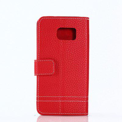 Cover Case for Samsung Galaxy S7 Lychee Striped Back Button LeatherCover Case for Samsung Galaxy S7 Lychee Striped Back Button Leather<br><br>Compatible for Samsung: Samsung Galaxy S7<br>Features: Full Body Cases, Cases with Stand, With Credit Card Holder, Anti-knock, Dirt-resistant<br>For: Samsung Mobile Phone<br>Material: TPU, PU Leather<br>Package Contents: 1 x Phone Case<br>Package size (L x W x H): 20.00 x 10.00 x 2.00 cm / 7.87 x 3.94 x 0.79 inches<br>Package weight: 0.0520 kg<br>Product weight: 0.0480 kg<br>Style: Vintage, Solid Color