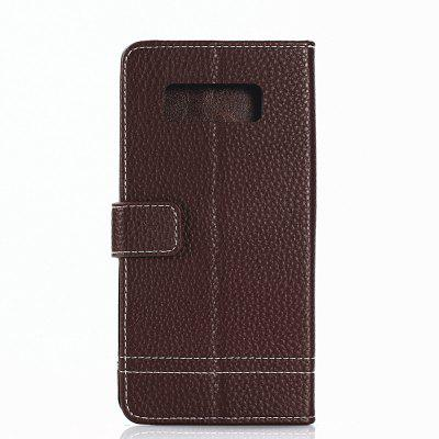 Cover Case for Samsung Galaxy S8 Plus Lychee Striped Back Button LeatherCover Case for Samsung Galaxy S8 Plus Lychee Striped Back Button Leather<br><br>Compatible with: Samsung Galaxy S8 Plus<br>Features: Full Body Cases, Cases with Stand, With Credit Card Holder, Anti-knock, Dirt-resistant<br>Material: TPU, PU Leather<br>Package Contents: 1 x Phone Case<br>Package size (L x W x H): 20.00 x 10.00 x 2.00 cm / 7.87 x 3.94 x 0.79 inches<br>Package weight: 0.0520 kg<br>Product weight: 0.0460 kg<br>Style: Vintage, Solid Color