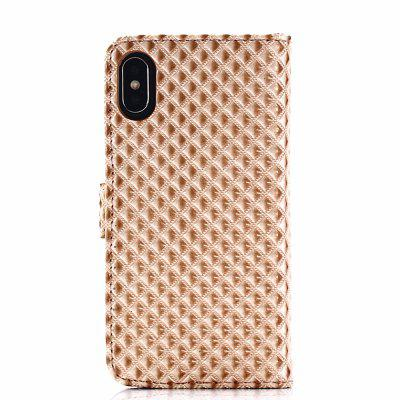 Cover Case for iPhone X Fine Rhombic LeatheriPhone Cases/Covers<br>Cover Case for iPhone X Fine Rhombic Leather<br><br>Compatible for Apple: iPhone X<br>Features: Cases with Stand, With Credit Card Holder, Anti-knock, Dirt-resistant, FullBody Cases<br>Material: TPU, PU Leather<br>Package Contents: 1 x Phone Case<br>Package size (L x W x H): 20.00 x 10.00 x 2.00 cm / 7.87 x 3.94 x 0.79 inches<br>Package weight: 0.0530 kg<br>Product weight: 0.0460 kg<br>Style: Novelty, Cool