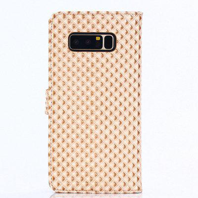 Cover Case for Samsung Galaxy Note 8 Fine Rhombic Leather metal ring holder combo phone bag luxury shockproof case for samsung galaxy note 8