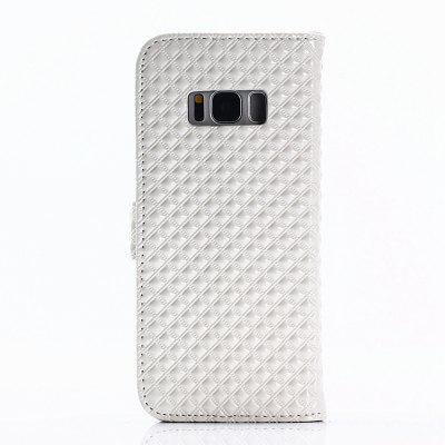 Cover Case for Samsung Galaxy S8 Fine Rhombic LeatherSamsung S Series<br>Cover Case for Samsung Galaxy S8 Fine Rhombic Leather<br><br>Compatible with: Samsung Galaxy S8<br>Features: Full Body Cases, Cases with Stand, With Credit Card Holder, Anti-knock, Dirt-resistant<br>Material: TPU, PU Leather<br>Package Contents: 1 x Phone Case<br>Package size (L x W x H): 20.00 x 10.00 x 2.00 cm / 7.87 x 3.94 x 0.79 inches<br>Package weight: 0.0520 kg<br>Product weight: 0.0450 kg<br>Style: Novelty, Special Design
