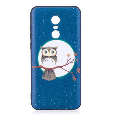 Relief Silicone Case for Xiaomi Redmi 5 Plus Moon and Owl Pattern Soft TPU Protective Back Cover dots pattern flexible tpu case for iphone 7 plus 5 5 inch purple