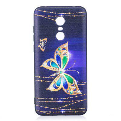 Relief Silicone Case for Xiaomi Redmi 5 Plus Large Butterfly Pattern Soft TPU Protective Back Cover dots pattern flexible tpu case for iphone 7 plus 5 5 inch purple