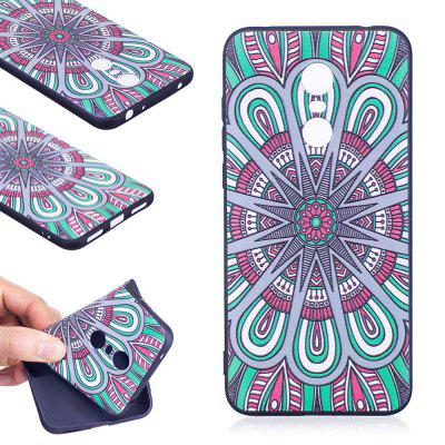 Relief Silicone Case for Xiaomi Redmi 5 Plus Mandala Pattern Soft TPU Protective Back Cover