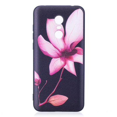 Relief Silicone Case for Xiaomi Redmi 5 Plus Lotus Pattern Soft TPU Protective Back Cover dots pattern flexible tpu case for iphone 7 plus 5 5 inch purple