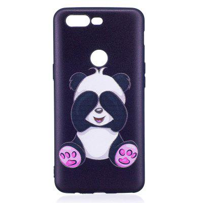Relief Silicone Case for Oneplus 5T Panda Pattern Soft TPU Protective Back Cover dots pattern flexible tpu case for iphone 7 plus 5 5 inch purple