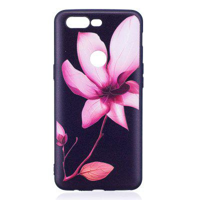 Relief Silicone Case for Oneplus 5T Lotus Pattern Soft TPU Protective Back Cover dots pattern flexible tpu case for iphone 7 plus 5 5 inch purple