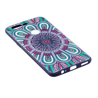 Relief Silicone Case for Oneplus 5T Mandala Pattern Soft TPU Protective Back Cover dots pattern flexible tpu case for iphone 7 plus 5 5 inch purple