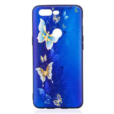 Relief Silicone Case for Oneplus 5T Golden Butterfly Pattern Soft TPU Protective Back Cover blue stripes дизайн pu кожа флип обложка кошелек для карты памяти чехол для apple iphone 6s
