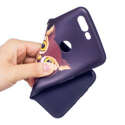 Relief Silicone Case for Oneplus 5T Owl Pattern Soft TPU Protective Back Cover dots pattern flexible tpu case for iphone 7 plus 5 5 inch purple