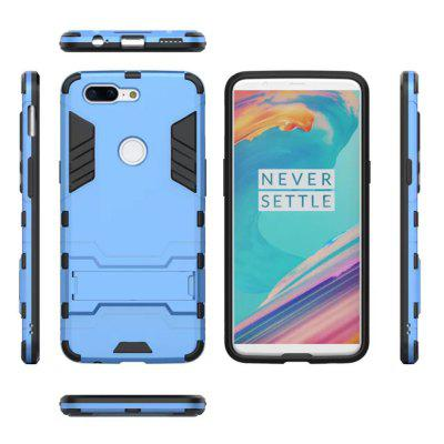 Cool Armor Rugged Kickstand Case for OnePlus 5T Hybrid Shockproof Phone Back Cover hybrid rugged armor shockproof tpu cover case for iphone 7