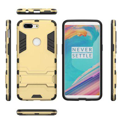 Cool Armor Rugged Kickstand Case for OnePlus 5T Hybrid Shockproof Phone Back CoverCases &amp; Leather<br>Cool Armor Rugged Kickstand Case for OnePlus 5T Hybrid Shockproof Phone Back Cover<br><br>Compatible Model: OnePlus 5T<br>Features: Cases with Stand, Anti-knock<br>Material: TPU, PC<br>Package Contents: 1 x Phone Case<br>Package size (L x W x H): 18.00 x 9.00 x 1.20 cm / 7.09 x 3.54 x 0.47 inches<br>Package weight: 0.0450 kg<br>Style: Special Design, Cool