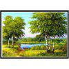 NAIYUE 9441 Landscape Woods Print Draw 5D Diamond Painting Diamond Embroidery - GREEN