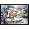 NAIYUE 9588 Snow View Cottage Print Draw 5D Diamond Painting Diamond Embroidery - WHITE