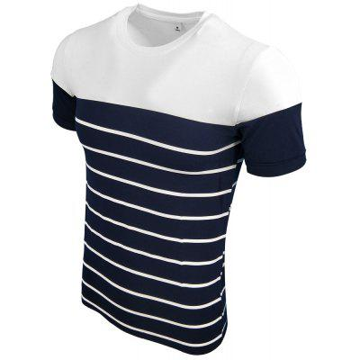 Menswear Summer Round Collar Short Sleeves Stitched Fashion Casual Fashion T-ShirtMens T-shirts<br>Menswear Summer Round Collar Short Sleeves Stitched Fashion Casual Fashion T-Shirt<br><br>Collar: Round Neck<br>Material: Cotton Blends<br>Package Contents: 1XT-shirt<br>Pattern Type: Striped<br>Sleeve Length: Short Sleeves<br>Style: Casual<br>Weight: 0.2000kg