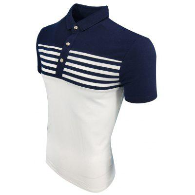 MenS Summer Lapel Striped Comfortable and Fashionable Casual POLO ShirtMens T-shirts<br>MenS Summer Lapel Striped Comfortable and Fashionable Casual POLO Shirt<br><br>Collar: Turn-down Collar<br>Material: Cotton Blends<br>Package Contents: 1XPOLO shirt<br>Pattern Type: Patchwork<br>Sleeve Length: Short Sleeves<br>Style: Fashion<br>Weight: 0.2000kg