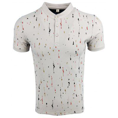 Men'S Wear Summer Lap-Top Short - Sleeved Printed Casual Fashion Polo Shirt