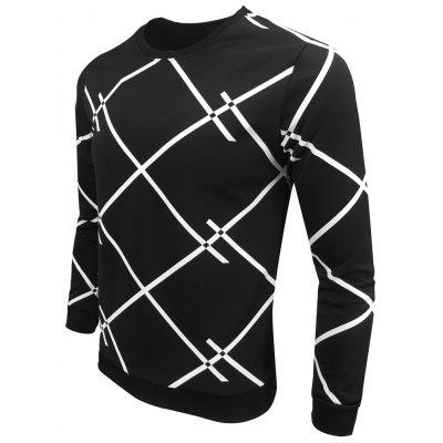 Men Spring Autumn Round Collar Geometric Printing Fashionable Leisure Long-Sleeved SweatshirtMens Hoodies &amp; Sweatshirts<br>Men Spring Autumn Round Collar Geometric Printing Fashionable Leisure Long-Sleeved Sweatshirt<br><br>Material: Polyester, Cotton Blends<br>Package Contents: 1XSweatshirt<br>Shirt Length: Regular<br>Sleeve Length: Full<br>Style: Casual<br>Weight: 0.5000kg