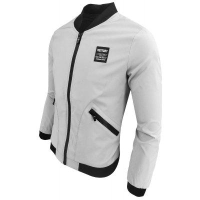 Men Spring and Fall Long Sleeve Prints Fashionable Casual JacketMens Jackets &amp; Coats<br>Men Spring and Fall Long Sleeve Prints Fashionable Casual Jacket<br><br>Clothes Type: Jackets<br>Collar: Stand Collar<br>Material: Cotton Blends<br>Package Contents: 1XJacket<br>Season: Spring<br>Shirt Length: Regular<br>Sleeve Length: Long Sleeves<br>Style: Fashion<br>Weight: 0.4000kg