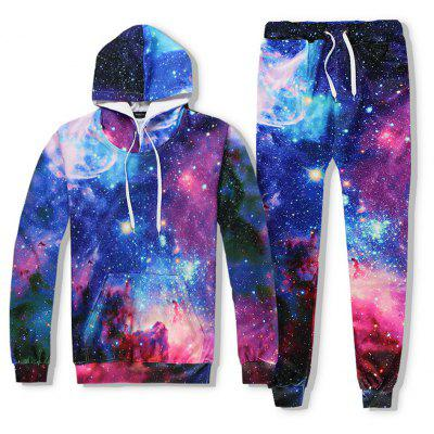 New Galaxy 3D Print Hoodies Suit -  XL  MIXCOLOR
