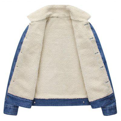 Fashion Denim Jacket Multi Pockets Lapel Collar Fleece Jacket for MenMens Jackets &amp; Coats<br>Fashion Denim Jacket Multi Pockets Lapel Collar Fleece Jacket for Men<br><br>Clothes Type: Jackets<br>Collar: Turn-down Collar<br>Material: Jeans<br>Package Contents: 1?Jacket<br>Season: Spring, Fall, Winter<br>Shirt Length: Regular<br>Sleeve Length: Long Sleeves<br>Style: Vintage<br>Weight: 0.9100kg