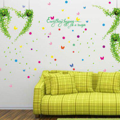 Romantic Potted Basket Diy For Kids Rooms Living Room Decorative Background  Wall Stickers