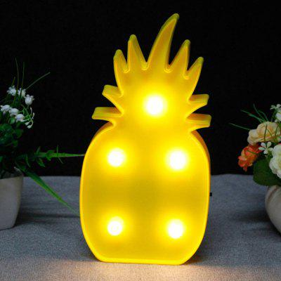 3D Cute LED Pineapple Decoration LightNight Lights<br>3D Cute LED Pineapple Decoration Light<br><br>Color Temperature or Wavelength: 3000K-4500K<br>Connector Type: Battery<br>Features: Decorative<br>Light Source Color: White<br>Light Type: Indoor Light,LED Night Light<br>Package Contents: 1 x Light<br>Package size (L x W x H): 26.00 x 14.00 x 3.00 cm / 10.24 x 5.51 x 1.18 inches<br>Package weight: 0.0190 kg<br>Power Source: Battery<br>Product weight: 0.0100 kg<br>Quantity: 1<br>Style: Artistic Style<br>Wattage: 0-5W