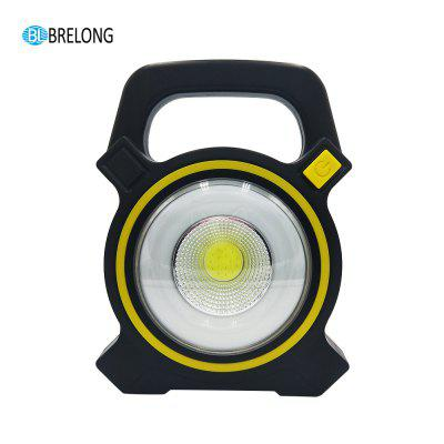 BRELONG COB Solar Work Lamp Outdoor Camping Tent USB Charging Light zpaa 2017 portable 3w cob led camping work inspection light lamp usb rechargeable pen light hand torch with usb cable